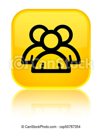 Group icon special yellow square button - csp50787354