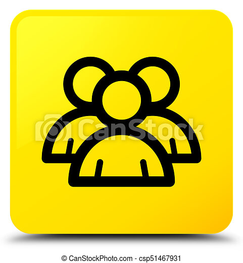 Group icon yellow square button - csp51467931