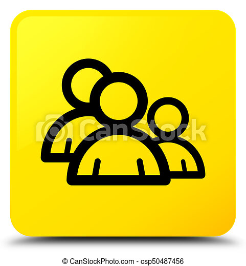 Group icon yellow square button - csp50487456