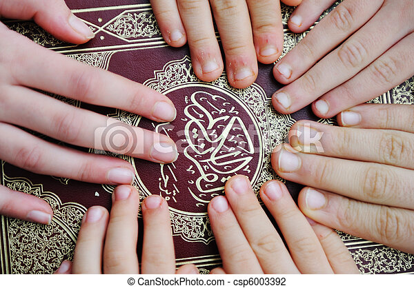 Group Mehndi Hands : Group muslim hands on quran stock photo search pictures and