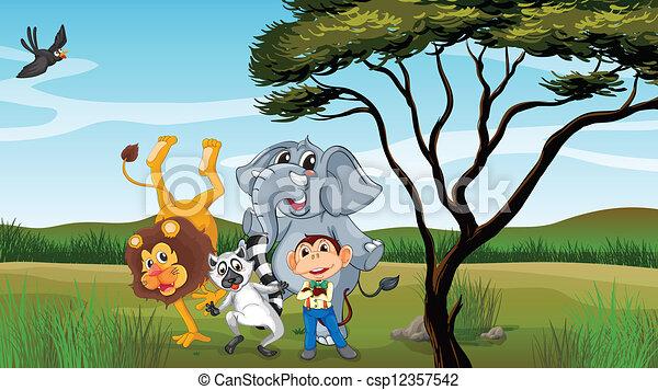 Group of animals - csp12357542