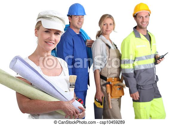group of artisans - csp10459289