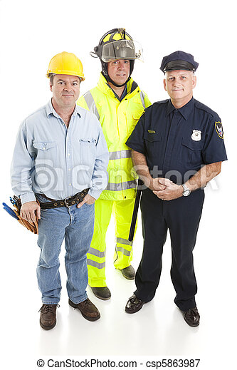 Group of Blue Collar Workers - csp5863987