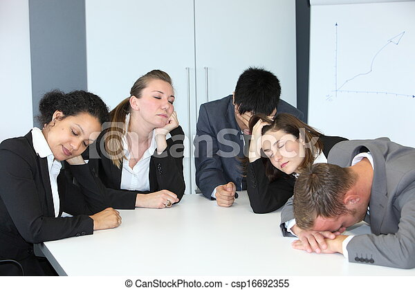 Group of bored demotivated businespeople - csp16692355