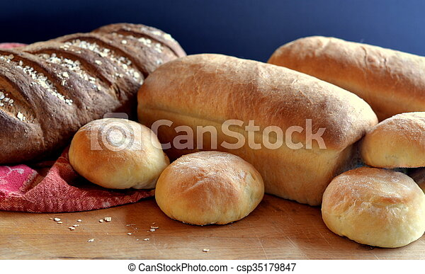 Group Of Bread Loaves And Buns
