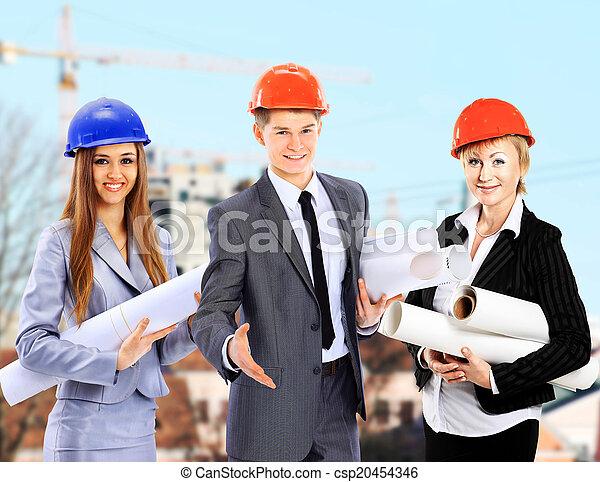 Group of builders workers.  - csp20454346