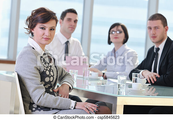 group of business people at meeting - csp5845623