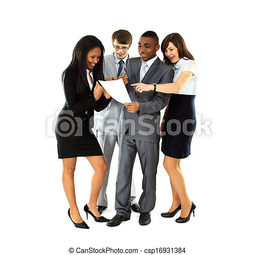 Group of business people. Businessman. Isolated on white background.  - csp16931384