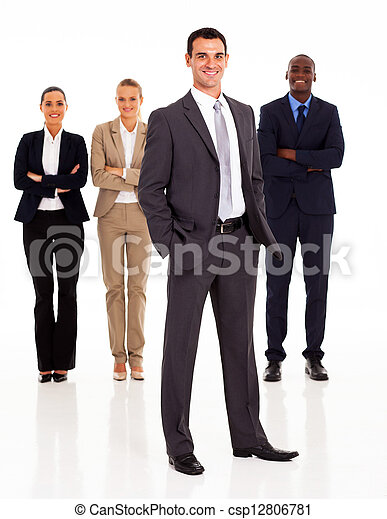 group of business people full length - csp12806781