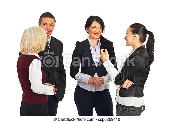 Group of business people having conversation - csp6269410