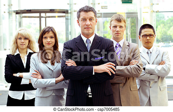 Group of business people. Isolated over white background  - csp7005485