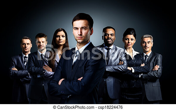 Group of business people - csp18224476