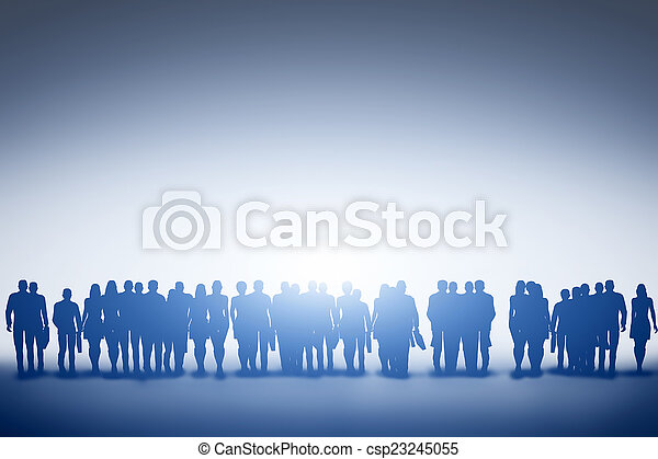 Group of business people silhouette - csp23245055