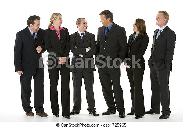Group Of Business People Standing Around Conversing  - csp1725965