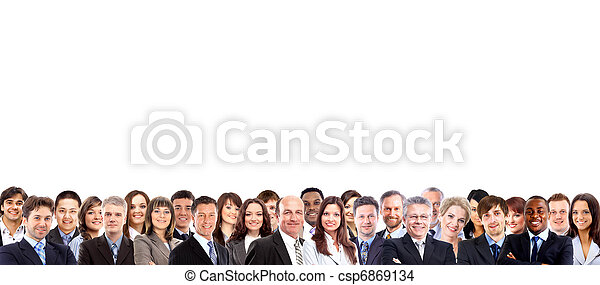 Group of business people  - csp6869134