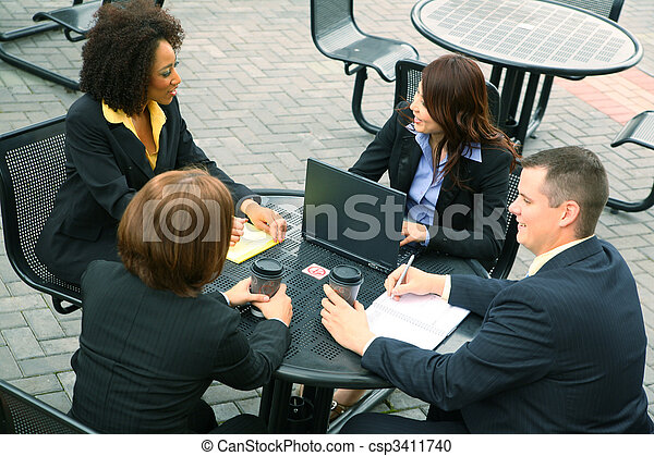 Group Of Business People - csp3411740