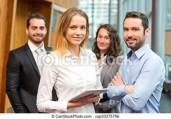 Group of business workers - csp33375756