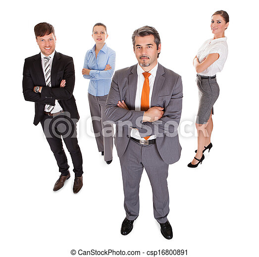 Group Of Businesspeople Over White Background - csp16800891