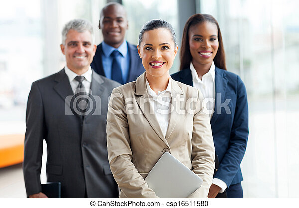 group of businesspeople standing together - csp16511580