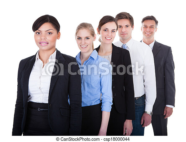 Group Of Businesspeople Standing - csp18000044