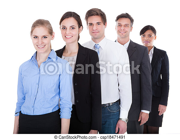 Group Of Businesspeople Standing - csp18471491