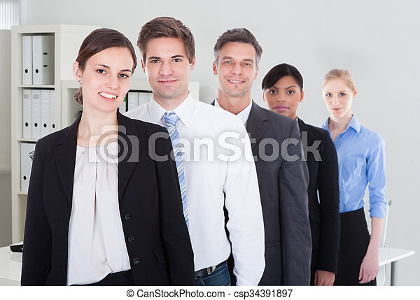 Group Of Businesspeople Standing - csp34391897