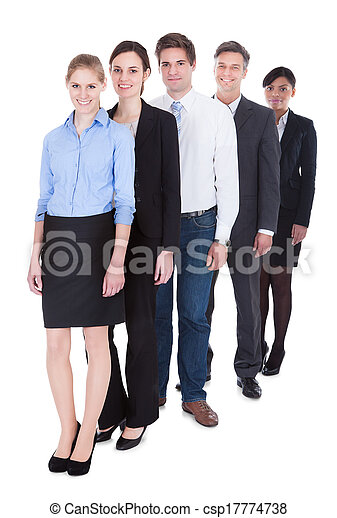 Group Of Businesspeople Standing - csp17774738