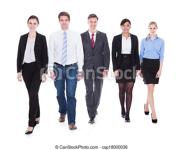 Group Of Businesspeople Walking - csp18000036