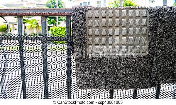 Group of carpet car on Drying rack. - csp43081005