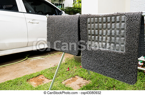 Group of carpet car on Drying rack - csp43080932