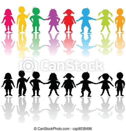 Group of children - csp9038496