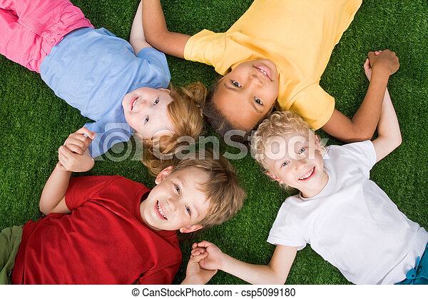 Group of children   - csp5099180