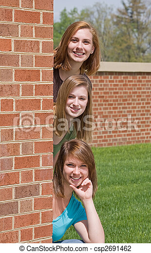 Group of College Girls - csp2691462