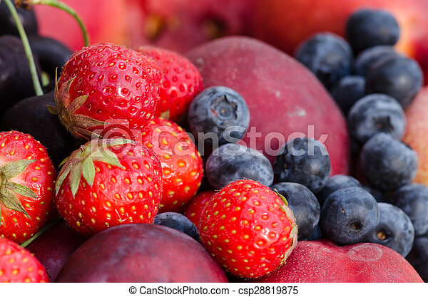 group of colorful fruits - csp28819875
