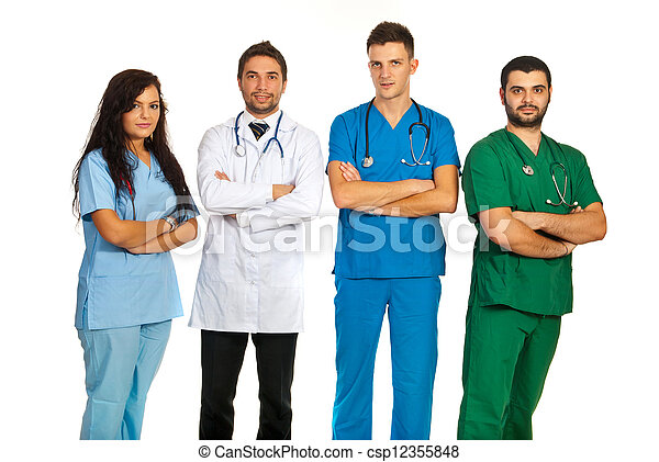Group of different doctors - csp12355848