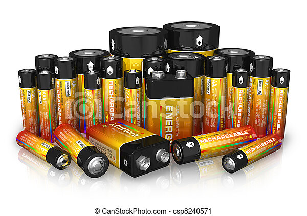 Group of different size batteries - csp8240571