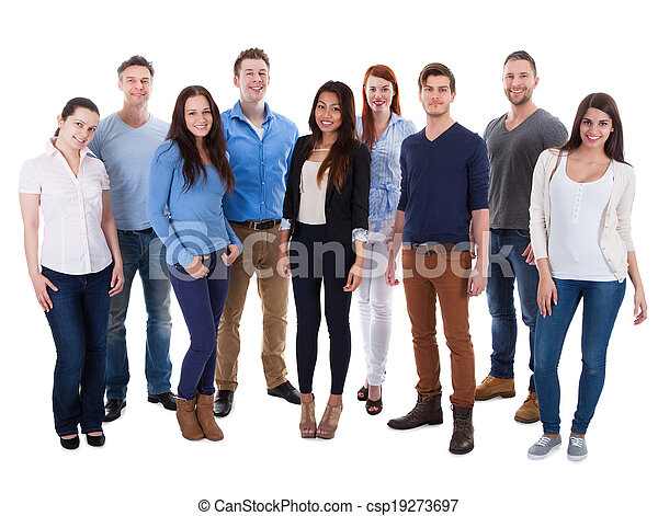 Group of diverse people - csp19273697