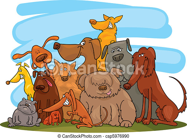 Group of dogs - csp5976990