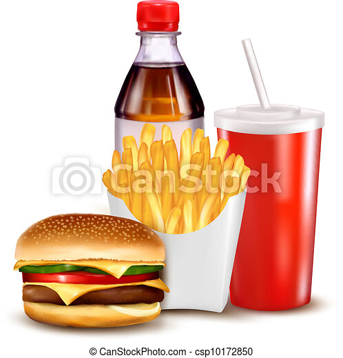 Group of fast food products - csp10172850