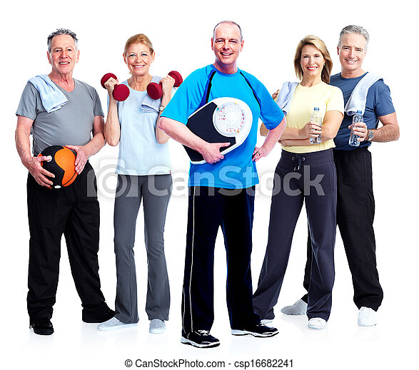 Group of fitness people. - csp16682241