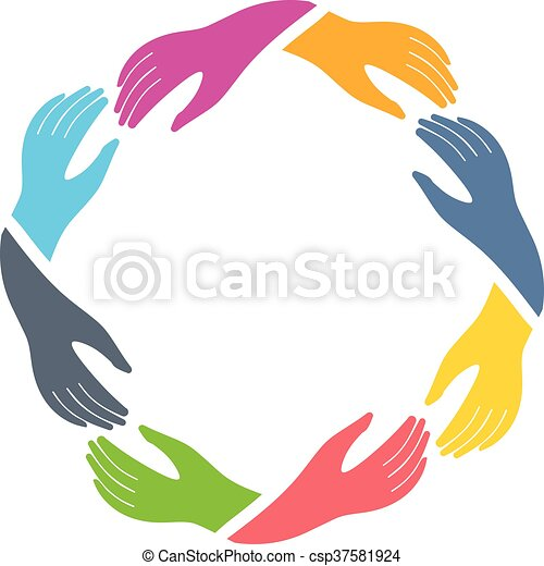 Group of Hands holding each other - csp37581924