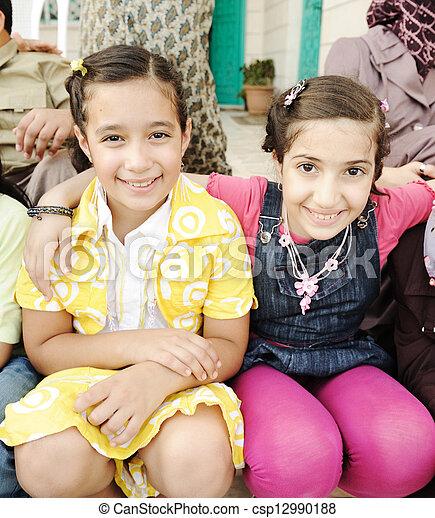 Group of happy children - csp12990188