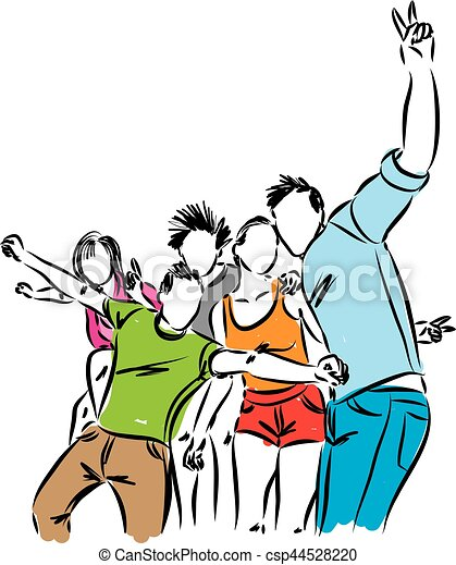 group of happy people illustration vector illustration search