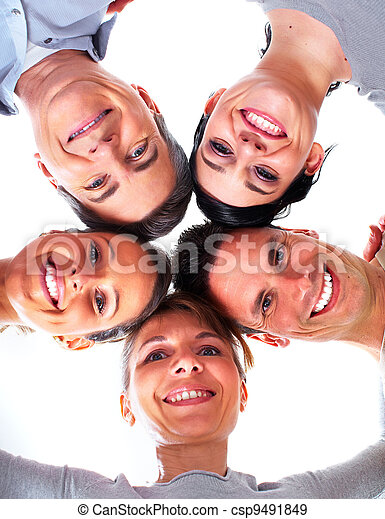 Group of happy people. - csp9491849