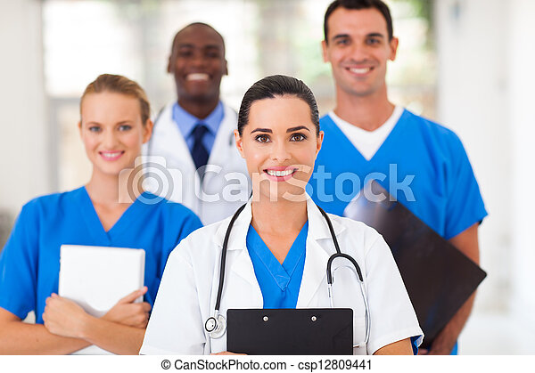group of healthcare professionals - csp12809441