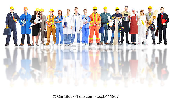 Group of industrial workers. - csp8411967
