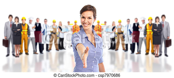 Group of industrial workers. - csp7970686