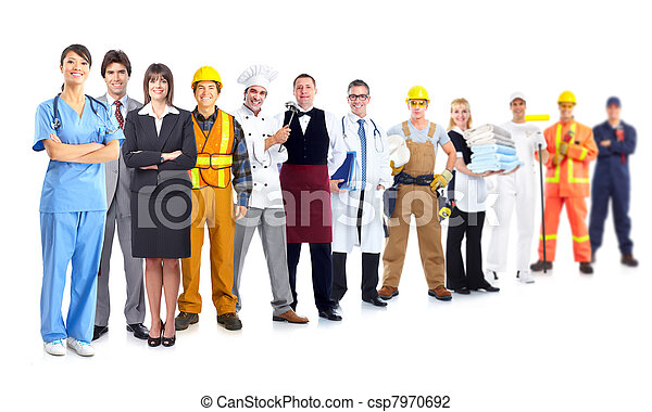 Group of industrial workers. - csp7970692