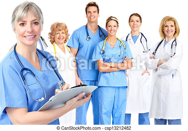 Group of medical doctor. - csp13212482