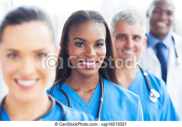 group of medical team closeup - csp16515021